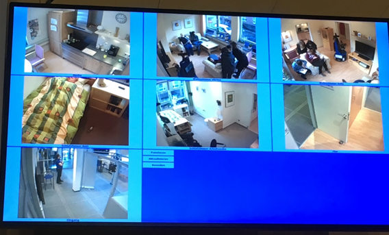 Images from the monitoring control 1